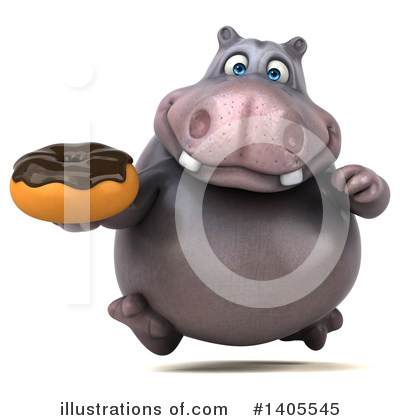 Royalty-Free (RF) Hippo Clipart Illustration by Julos - Stock Sample #1405545