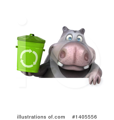 Royalty-Free (RF) Hippo Clipart Illustration by Julos - Stock Sample #1405556