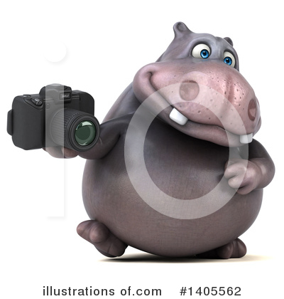 Royalty-Free (RF) Hippo Clipart Illustration by Julos - Stock Sample #1405562