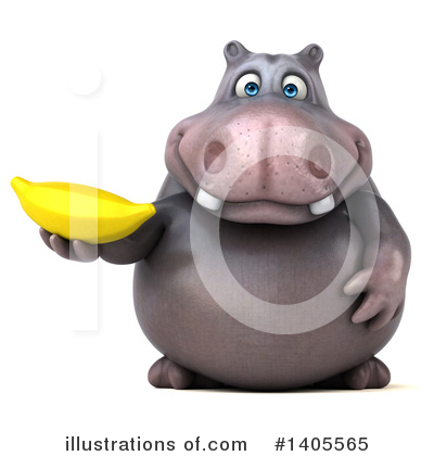 Royalty-Free (RF) Hippo Clipart Illustration by Julos - Stock Sample #1405565