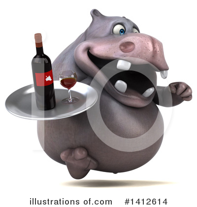 Royalty-Free (RF) Hippo Clipart Illustration by Julos - Stock Sample #1412614