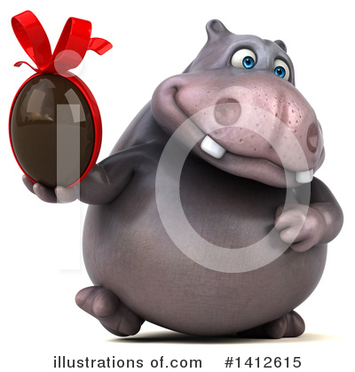 Royalty-Free (RF) Hippo Clipart Illustration by Julos - Stock Sample #1412615