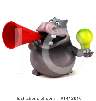 Royalty-Free (RF) Hippo Clipart Illustration by Julos - Stock Sample #1412616