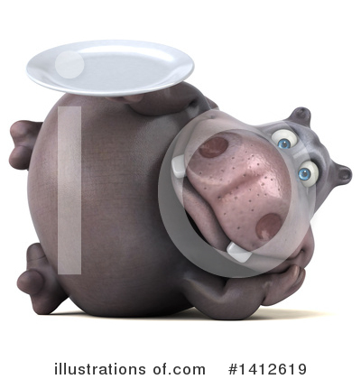 Royalty-Free (RF) Hippo Clipart Illustration by Julos - Stock Sample #1412619