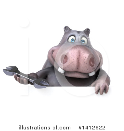 Royalty-Free (RF) Hippo Clipart Illustration by Julos - Stock Sample #1412622