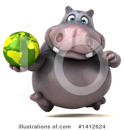 Royalty-Free (RF) Hippo Clipart Illustration by Julos - Stock Sample #1412624
