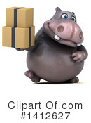 Hippo Clipart #1412627 by Julos