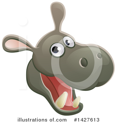Hippopotamus Clipart #1427613 by AtStockIllustration