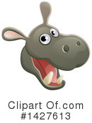 Royalty-Free (RF) Hippo Clipart Illustration #1427613