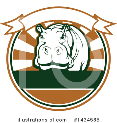 Hippo Clipart #1434585 by Vector Tradition SM