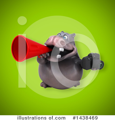 Royalty-Free (RF) Hippo Clipart Illustration by Julos - Stock Sample #1438469