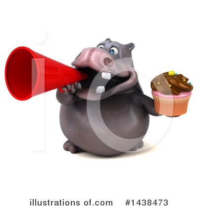 Royalty-Free (RF) Hippo Clipart Illustration by Julos - Stock Sample #1438473