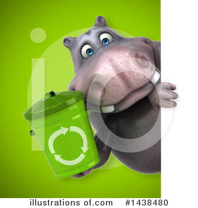 Royalty-Free (RF) Hippo Clipart Illustration by Julos - Stock Sample #1438480