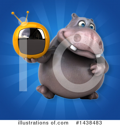 Royalty-Free (RF) Hippo Clipart Illustration by Julos - Stock Sample #1438483