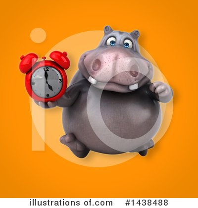 Royalty-Free (RF) Hippo Clipart Illustration by Julos - Stock Sample #1438488