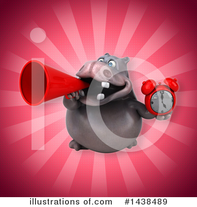 Royalty-Free (RF) Hippo Clipart Illustration by Julos - Stock Sample #1438489