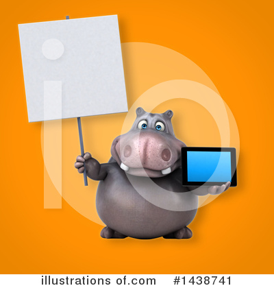 Royalty-Free (RF) Hippo Clipart Illustration by Julos - Stock Sample #1438741