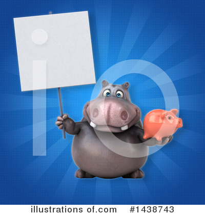 Royalty-Free (RF) Hippo Clipart Illustration by Julos - Stock Sample #1438743