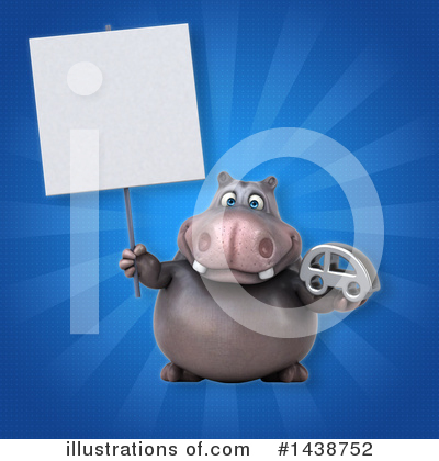 Royalty-Free (RF) Hippo Clipart Illustration by Julos - Stock Sample #1438752