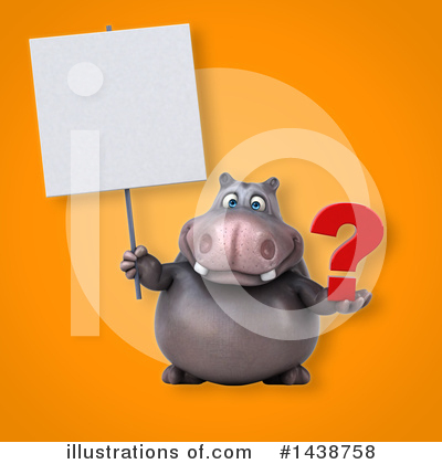 Royalty-Free (RF) Hippo Clipart Illustration by Julos - Stock Sample #1438758