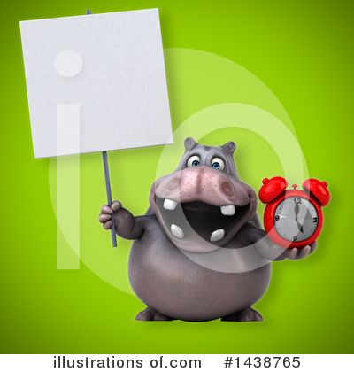 Royalty-Free (RF) Hippo Clipart Illustration by Julos - Stock Sample #1438765