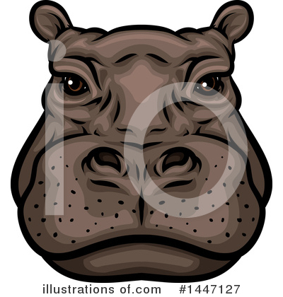 Royalty-Free (RF) Hippo Clipart Illustration by Vector Tradition SM - Stock Sample #1447127