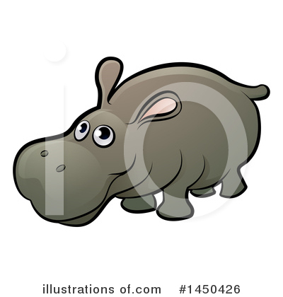 Hippopotamus Clipart #1450426 by AtStockIllustration