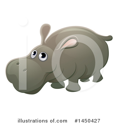 Hippopotamus Clipart #1450427 by AtStockIllustration