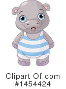 Royalty-Free (RF) Hippo Clipart Illustration #1454424