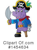 Royalty-Free (RF) Hippo Clipart Illustration #1454634