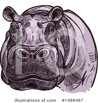 Hippo Clipart #1466467 by Vector Tradition SM