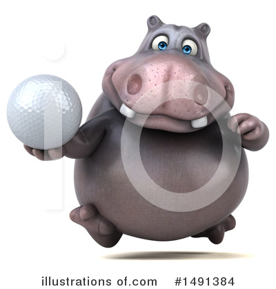 Royalty-Free (RF) Hippo Clipart Illustration by Julos - Stock Sample #1491384