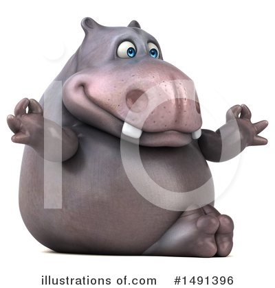 Royalty-Free (RF) Hippo Clipart Illustration by Julos - Stock Sample #1491396