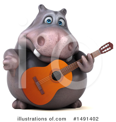 Royalty-Free (RF) Hippo Clipart Illustration by Julos - Stock Sample #1491402