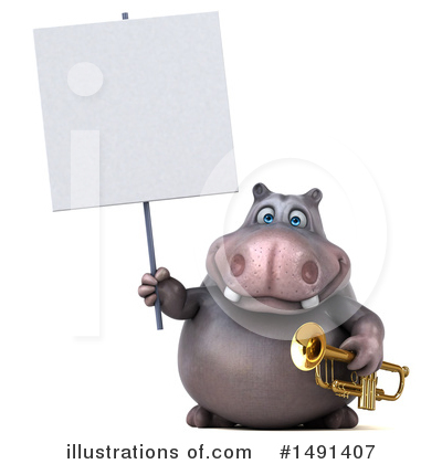 Royalty-Free (RF) Hippo Clipart Illustration by Julos - Stock Sample #1491407