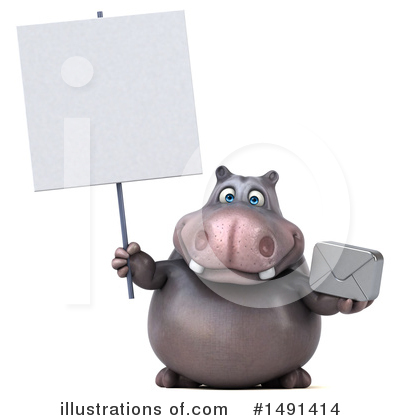 Royalty-Free (RF) Hippo Clipart Illustration by Julos - Stock Sample #1491414