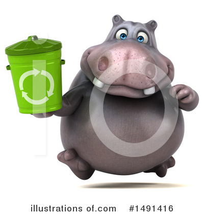 Royalty-Free (RF) Hippo Clipart Illustration by Julos - Stock Sample #1491416