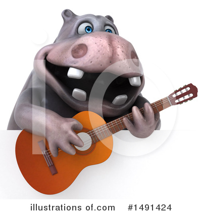 Royalty-Free (RF) Hippo Clipart Illustration by Julos - Stock Sample #1491424
