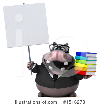 Royalty-Free (RF) Hippo Clipart Illustration by Julos - Stock Sample #1516278