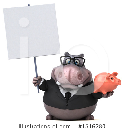 Royalty-Free (RF) Hippo Clipart Illustration by Julos - Stock Sample #1516280