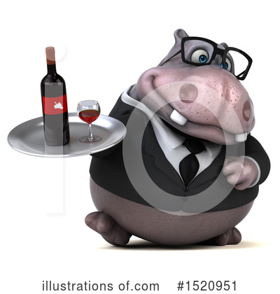 Royalty-Free (RF) Hippo Clipart Illustration by Julos - Stock Sample #1520951