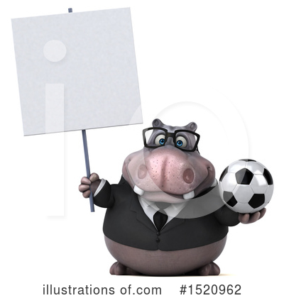 Royalty-Free (RF) Hippo Clipart Illustration by Julos - Stock Sample #1520962