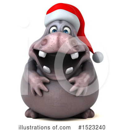 Christmas Hippo Clipart #1523240 by Julos