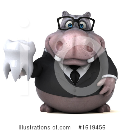 Royalty-Free (RF) Hippo Clipart Illustration by Julos - Stock Sample #1619456