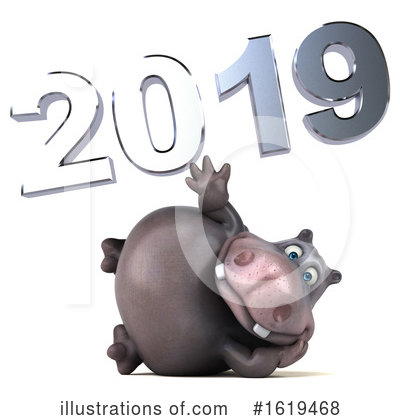 Royalty-Free (RF) Hippo Clipart Illustration by Julos - Stock Sample #1619468