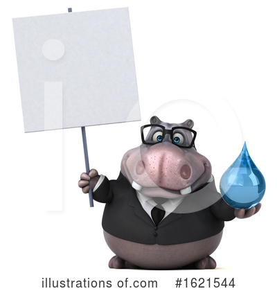 Royalty-Free (RF) Hippo Clipart Illustration by Julos - Stock Sample #1621544