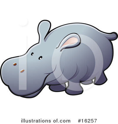 Hippopotamus Clipart #16257 by AtStockIllustration