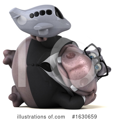 Royalty-Free (RF) Hippo Clipart Illustration by Julos - Stock Sample #1630659