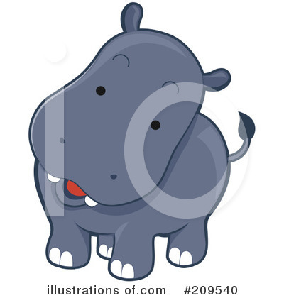 Royalty-Free (RF) Hippo Clipart Illustration by BNP Design Studio - Stock Sample #209540