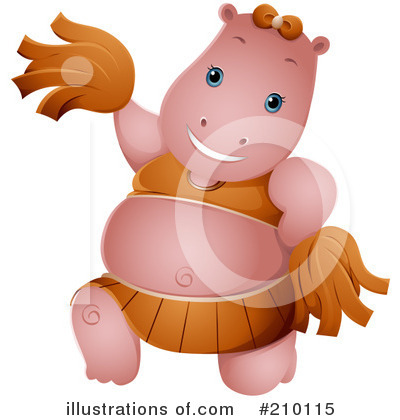Royalty-Free (RF) Hippo Clipart Illustration by BNP Design Studio - Stock Sample #210115